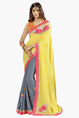 DEMARCA Womens Embroidered Saree - 201151730