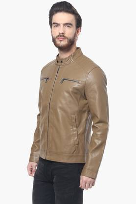 Mens Full Sleeves Solid Jacket