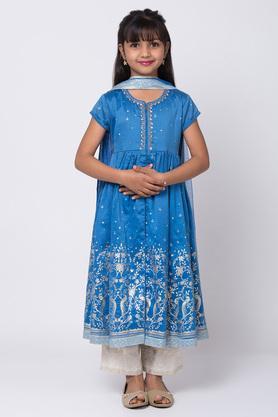 BIBA GIRLS - BlueSalwar Kurta Set - 2