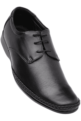 FRANCO LEONE Mens Black Formal Lace Up Shoe