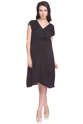 NINE MATERNITY Womens Regular Fit Solid Dress
