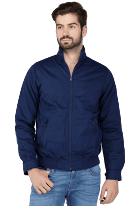 ALLEN SOLLYMens Full Sleeves Slim Fit Solid Jacket