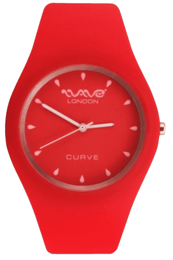 Curve Red & White Ladies Watch