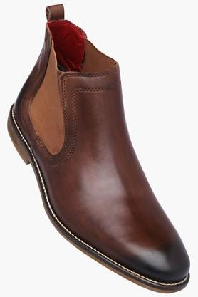 VENTURINI Mens Leather Slipon Boots