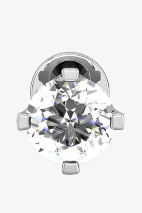 VELVETCASEWomens 18 Karat White Gold Nose Ring (Free Diamond Pendant) - 201064977