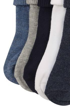 Boys Solid Socks - Pack of 5
