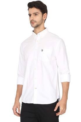 Mens Regular Fit Notched Collar Shirt