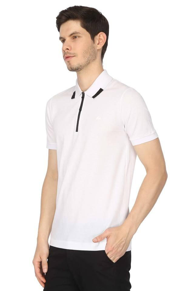 21db68600beb Buy LACOSTE White Mens Solid Polo T-Shirt | Shoppers Stop