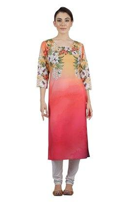 KASHISH Womens Round Neck Printed Kurta - 202724597