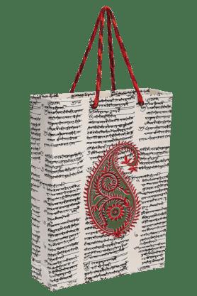 BACK TO EARTHHandmade Paper Big Bag With Paisley