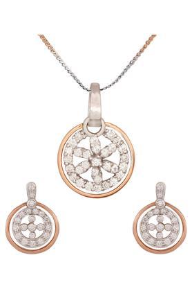 WAMAN HARI PETHEWomens Aabha Collections Diamond Pendant Set DLTSD15099988