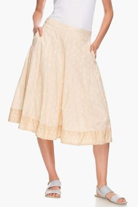 IMARA Womens Self Pattern Flared Skirt - 202173472