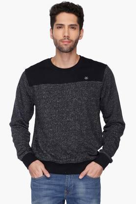 WROGNMens Round Neck Slub Sweatshirt