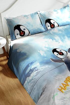 Cotton King XL Digital Printed Bedsheet With Pillow Cover - 202448902