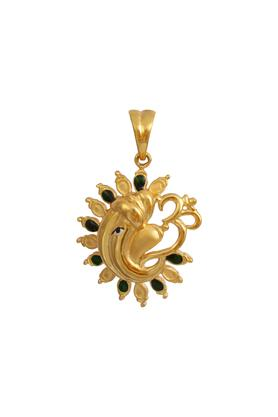 WHP JEWELLERS Mens Yellow Gold Ganesha Om Pendant GLTD15034297