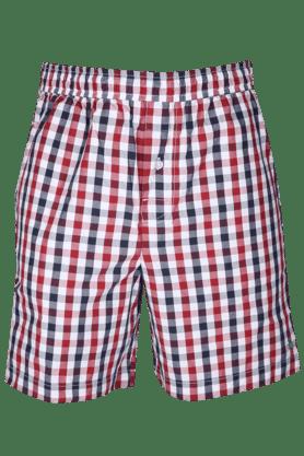 UNDERCOLORSMens Regular Fit Check Boxer Shorts