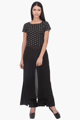 W Womens Printed Maxi Top