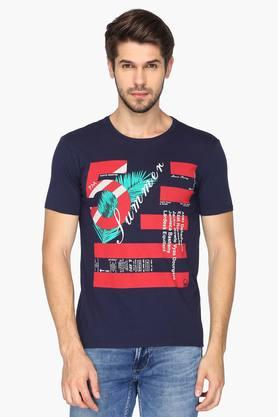 UNITED COLORS OF BENETTONMens Round Neck Printed T-Shirt - 201942065
