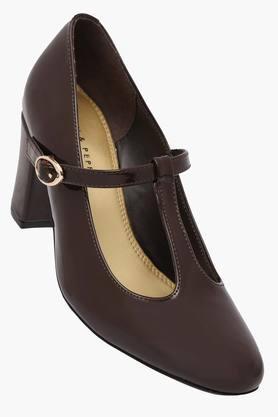 LEMON & PEPPERWomens Casual Ankle Buckle Closure Heel Sandals