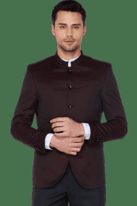 BLACKBERRYSMens Full Sleeves Slim Fit Solid Nehru Jacket