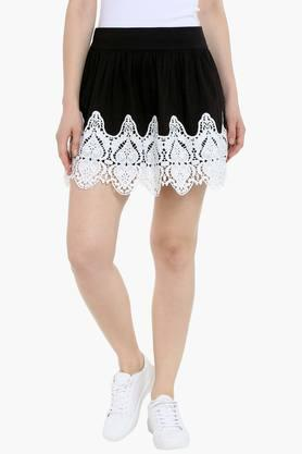 LOVE GENRATION Womens Embellished Mini Skirt