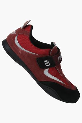 Mens Leather Velcro Closure Sneakers