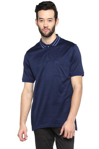 ALLEN SOLLY -  Navy T-shirts - Main