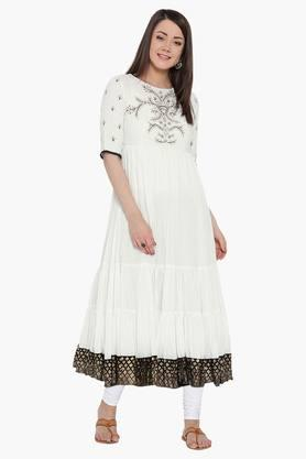 BIBA Women Cotton Anarkali Kurta