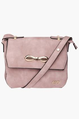 E2O Womens Snap & Zipper Closure Sling Bag