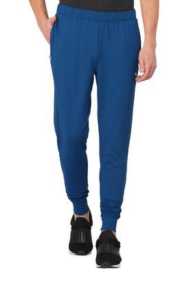 Mens 2 Pocket Solid Sports Track Pants
