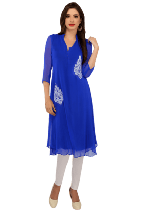 IRA SOLEIL Womens Double Layered Kurta