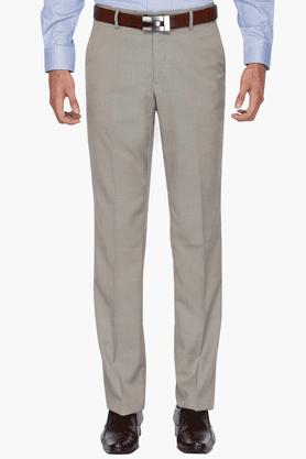 LOUIS PHILIPPEMens Regular Fit Slub Formal Trouser