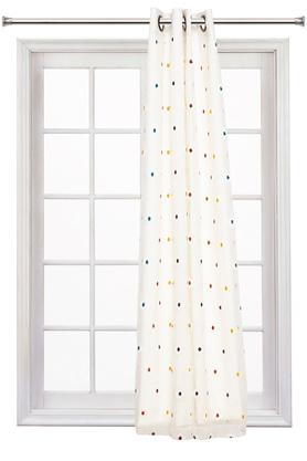 Embroidered Sheer and Blackout Window 2 in 1 Curtain