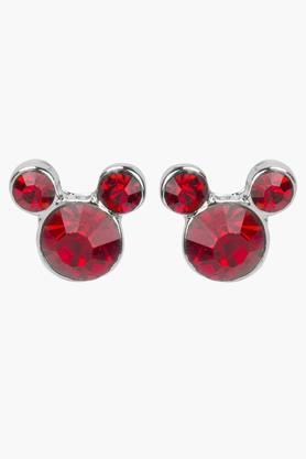 Girls Rhinestone Micky Mouse Earrings (3 Years +)