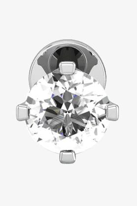 VELVETCASEWomens 18 Karat White Gold Nose Ring (Free Diamond Pendant) - 201064976