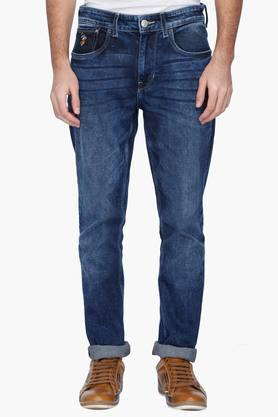U.S. POLO ASSN. DENIMMens Slim Fit Stone Wash Jeans ( Delta Fit)