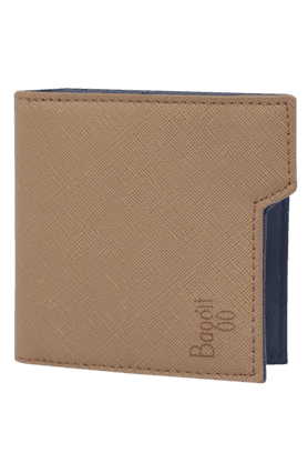 BAGGIT Mens Leather 1 Fold Card Holder