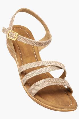 RAW HIDE Womens Casual Ankle Buckle Closure Wedge Sandal - 201177504