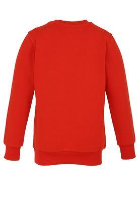 Boys Round Neck Printed Sweatshirt