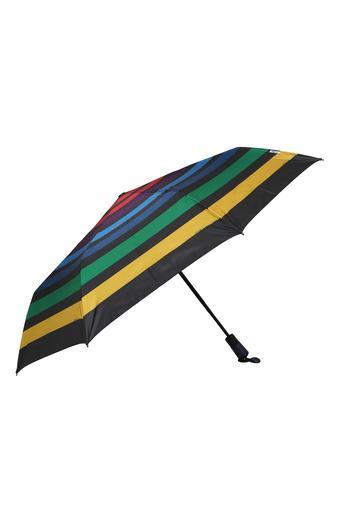 Unisex Auto Striped 3 Fold Umbrella