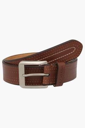 U.S. POLO ASSN. Mens Leather Buckle Closure Casual Belt  ... - 202132325