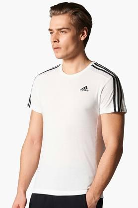 ADIDAS Mens Round Neck Solid T-Shirt - 201142890