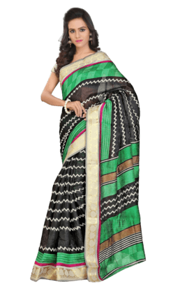 DEMARCA Women Art Silk Saree (Buy Any Demarca Product & Get A Pair Of Matching Earrings Free) - 200875642