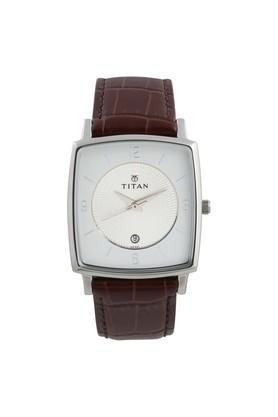Mens Analogue Leather Watch - NK9159SL01