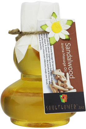 SOULFLOWER Sandalwood Aroma Massage Oil