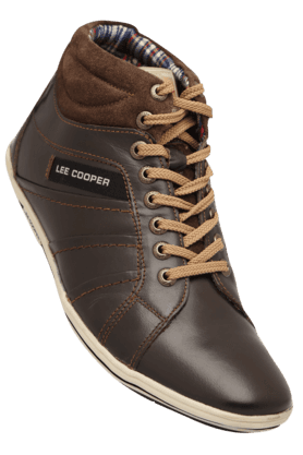 LEE COOPER Mens Leather Lace Up Casual Shoe - 200717762