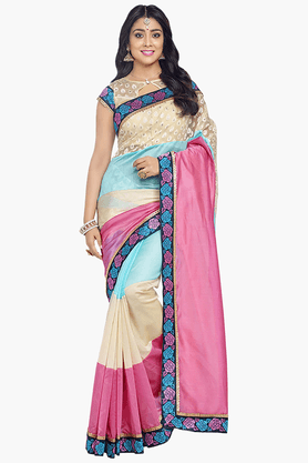 DEMARCA Womens Banarasi Silk Saree (Buy Any Demarca Product & Get A Pair Of Matching Earrings Free) - 201180405