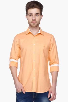 Van Heusen Sport Formal Shirts (Men's) - Mens Full Sleeves Casual Solid Shirt