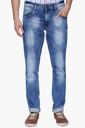 RS BY ROCKY STAR Mens 5 Pocket Heavy Wash Whiskered Jeans