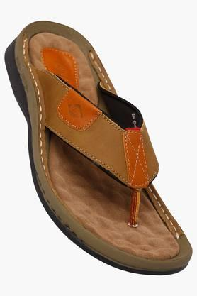 LEE COOPER Mens Leather Slipon Slippers